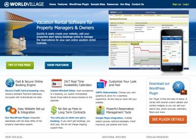 SaaS Web App Home Page