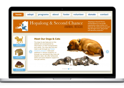 WordPress Website – Hopalong Animal Rescue