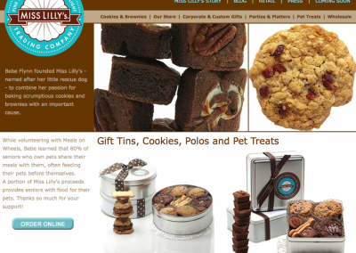 E-Commerce Website – Miss Lilly's Trading Company