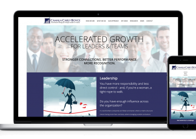 Responsive WordPress Website – Executive Leadership Coach
