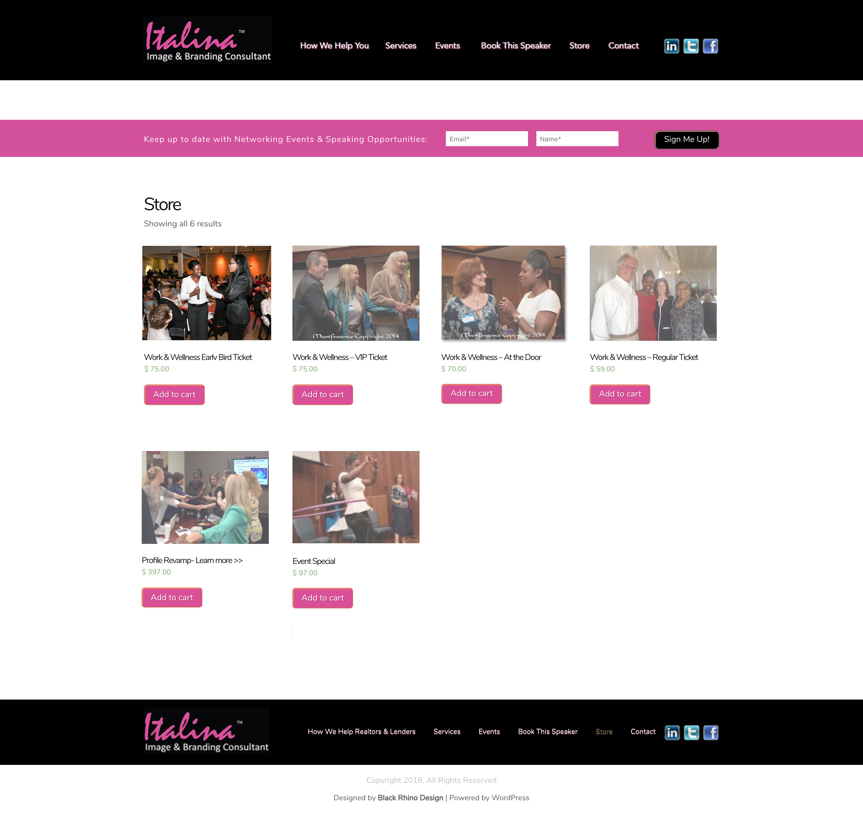 Italina Store Page